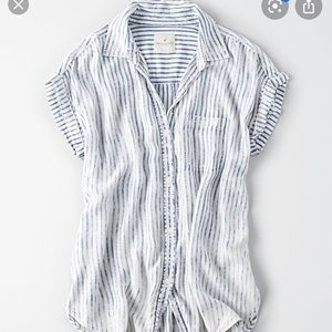 A casual button down American eagle top